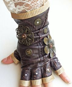 Lacy Steampunk Glove by NBetween.deviantart.com