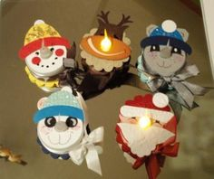 cute battery operated tea light ideas be sure to expose on/off switch on the bottom.