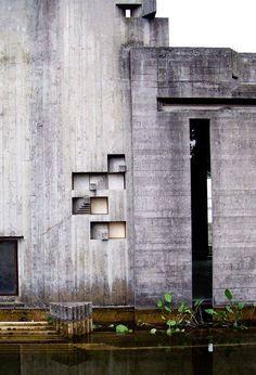 Brion-Vega Cemetery by Carlo Scarpa  Photo via Flickr: Alessia Iannace