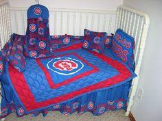 Crib Nursery Bedding Set Made w Chicago Cubs Fabric | eBay