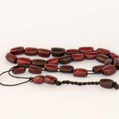 Cherry Olive Kernel Greek Worry Beads