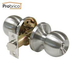Probrico Stainless Steel Security Door Lock With Key DL607SNET Safe Lock Door Handles Entrance Locker USA Domestic Delivery