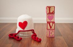 Baby Valentines Day Hat with heart