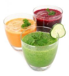 Find de lækreste opskrifter tik juice-kuren her Smoothie Vert, Smoothie Detox, Juice Smoothie, Healthy Juices, Healthy Smoothies, Smoothie Recipes, Healthy Snacks For Diabetics, Healthy Recipes, Protein Recipes