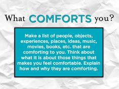 Big Writing Prompt - Home comforts