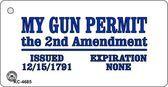 My Gun Permit Novelty Key Chain