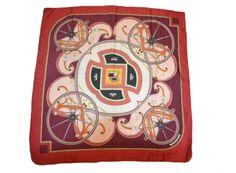 washigton carriage / Rot, bordeauxrot / Seide / love it hermes