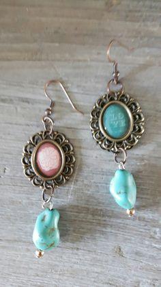 Selfmade earrings! Like them😊!