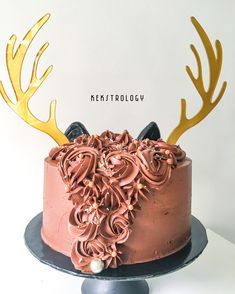 Back of the Rudolph Cake, inside is Devil's Food Choc Cake