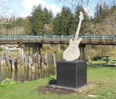 Kurt Cobain Memorial Park, Ashes scattered in the Wishkah River, Aberdeen, Washington