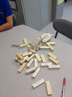 Pictures, Directions, and a free download for playing Get to Know You Jenga!