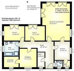 Hauspläne l-form  140 best bungalow grundriss images on Pinterest | House floor plans ...