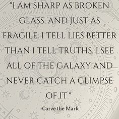 Carve The Mark - Veronica Roth - Quote Insurgent Quotes, Divergent Quotes, Tfios, Allegiant, Book Memes, Book Quotes, Words Quotes, Sayings, Ya Books