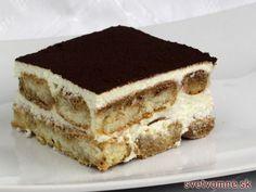 Famózní dezert s tvarohem a smetanou vsáknutou do kávových piškotů. Pastry Cake, Nutella, Deserts, Brunch, Dessert Recipes, Food And Drink, Cheesecake, Sweets, Snacks