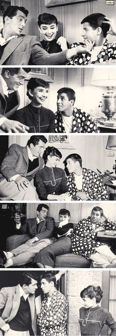 dean martin, jerry lewis & audrey hepburn