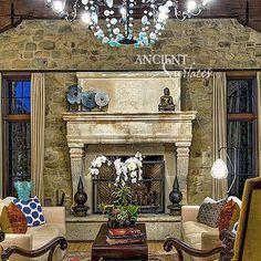 #antiquefireplace #stonefireplace #stonemantles #fireplace #limestonefireplace…