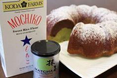 Chocolate-matcha mochi bundt cake.