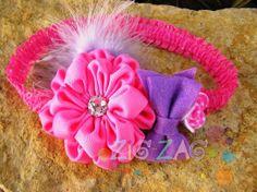 Flower headband by Bowszigzag on Etsy, $9.00