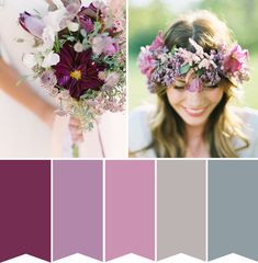 Radiant Orchid Wedding Inspiration with a muted palette via onefabday.com