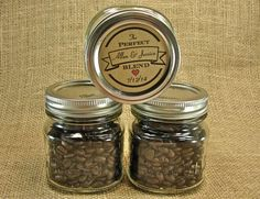 Wedding Coffee or Tea Favors  Personalized by glassactsupply