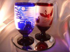 世界遺産、姫路城を彫刻したグラス。