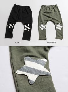 Star Knee patched Slouchy Pants for boys kids fashion at colormewhimsy fall season 7