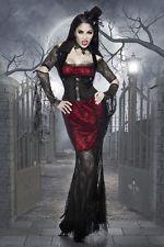 halloween vampir kost m damen gothic kost m karneval. Black Bedroom Furniture Sets. Home Design Ideas