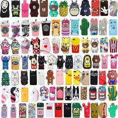 For iPhone Cute Cartoon Animals Soft Silicone Phone Case Cover Back Shell in Cell Phones & Accessories, Cell Phone Accessories, Cases, Covers & Skins Iphone Hard Case, Diy Phone Case, Iphone Phone Cases, Iphone 7, Cute Ipod Cases, Cool Cases, Telephone Samsung, Silicone Phone Case, Decoden