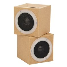 Cardboard Speakers, sustainable and inventive design