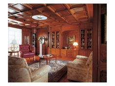 Classic style paneling in wood, for living rooms