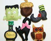 Halloween Handmade Wool Felt Ornament -Pick One