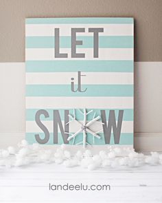 Handpainted winter sign: Celebrate the snowy season with this DIY sign.