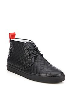 #DelToro Quilted Leather Chukka Sneakers