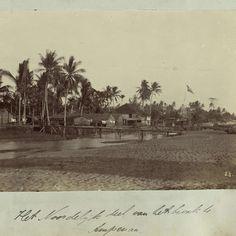 Nederlands-Indië, het bivak te Ampenan ten tijde van de Lombok-expeditie 1894, anonymous - Rijksmuseum