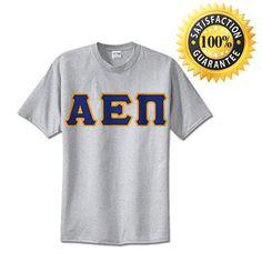 #AlphaEpsilonPi Fraternity Standard Lettered T-Shirt | Something Greek | #AEPi #fraternitymerchandise #standards #somethinggreek