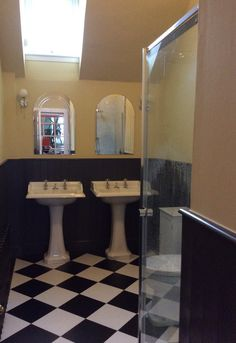 Matki Colonade shower enclosure with easy clean glass guard  Grant Westfield Glacier wall panels to shower area  Bespoke traditional tongue and grooves wall boarding finished with OG skirting and facing  Amtico floor covering  Mira Realm shower valve  Burlington Classic 65cm basins with concealed chrome wastes and traditional pillar taps.  Sena Black designer radiaotr     The works took 5 days to complete   In the region of £7000 – £8,000 inc vat for supply and install.