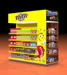 Projects - Design by Joop Display Design Stand Design, Display Design, Booth Design, M M Candy, Candy Shop, Bounty Chocolate, Mars Space, Peanut Candy, Candy Packaging