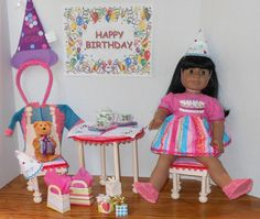 Happy Birthday Party set  Table Chairs Clothes & by jnrbrainerd, $39.99