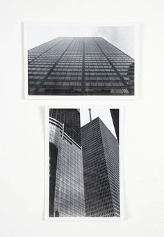Skyscrapers Photographs - A Pair