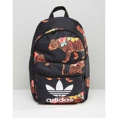 adidas Originals X Farm Multi Leopard Print Backpack With Trefoil Logo ($30) ❤ liked on Polyvore featuring bags, backpacks, multi, knapsack bag, leopard print backpack, daypack bag, leopard bag and leopard backpacks