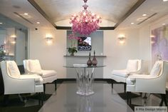 Completed Dr. Hevia's Cosmetic Dermatology office! We wouldn't mind waiting in this chic entry room!