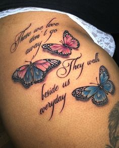 Rip Tattoos For Mom, Grandma Tattoos, Dope Tattoos For Women, Cute Hand Tattoos, Black Girls With Tattoos, Mother Tattoos, Mom Tattoos, Side Quote Tattoos, Thigh Tattoo Quotes