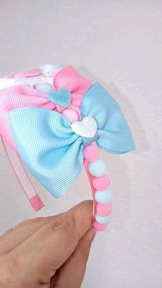 Ribbon Headbands, Hair Ribbons, Diy Headband, Diy Lace Ribbon Flowers, Diy Ribbon, Diy Gifts To Sell, Baby Hair Accessories, Handmade Hair Bows, Baby Hair Bows
