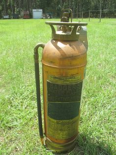 Antique Brass and Copper Fire extinguisher, Man Cave, Rustic Decor, Badger's…