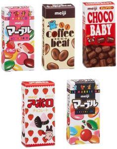 meiji Petit Mini assort 5 Candy Pack Dagashi Chocolate JAPAN http://ebay.to/1rPXAGk
