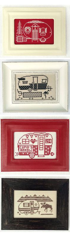 The perfect cross stitch project for when you are on vacation! #crossstitch #camperlife