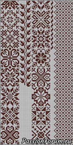 Biscornu Cross Stitch, Cross Stitch Borders, Simple Cross Stitch, Cross Stitch Embroidery, Cross Stitch Patterns, Knitting Charts, Knitting Stitches, Knitting Patterns, Needlepoint Patterns
