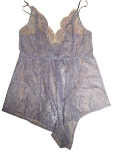 VICTORIA S SECRET SIZE LARGE VERY SEXY PURPLE LACE ONE-PIECE ROMPER TEDDY  NWT!!!  VictoriasSecret 62de6a9e5