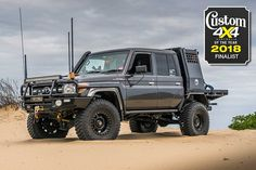 It's not every day you find a Land Cruiser that leaves you speechless. But this isn't your everyday Land Cruiser. Toyota Land Cruiser, Land Cruiser 200, Landcruiser Ute, Landcruiser 79 Series, Bull Bar, Expedition Vehicle, Outboard Motors, Four Wheel Drive, Sport Cars