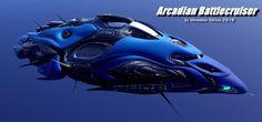 Arcadian Battlecruiser by oigaitnas on DeviantArt